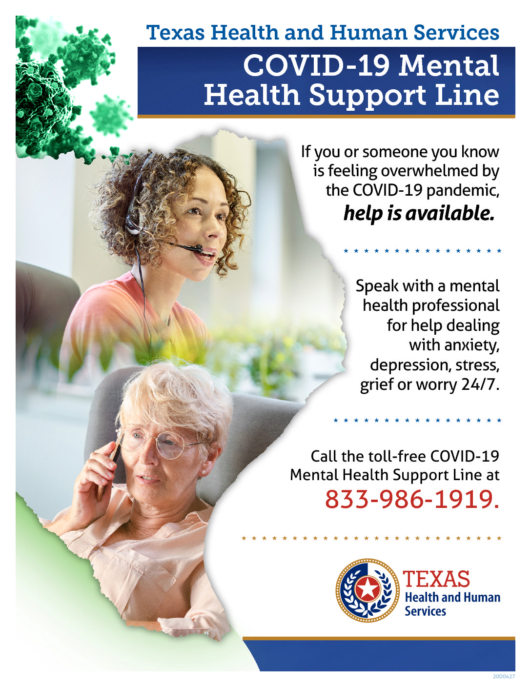 HHS COVID-19 BH Support Flyer - ENG